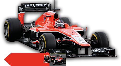 marussia mr 02 formel 1 auto saison 2013 hier mieten weekend package ebay. Black Bedroom Furniture Sets. Home Design Ideas